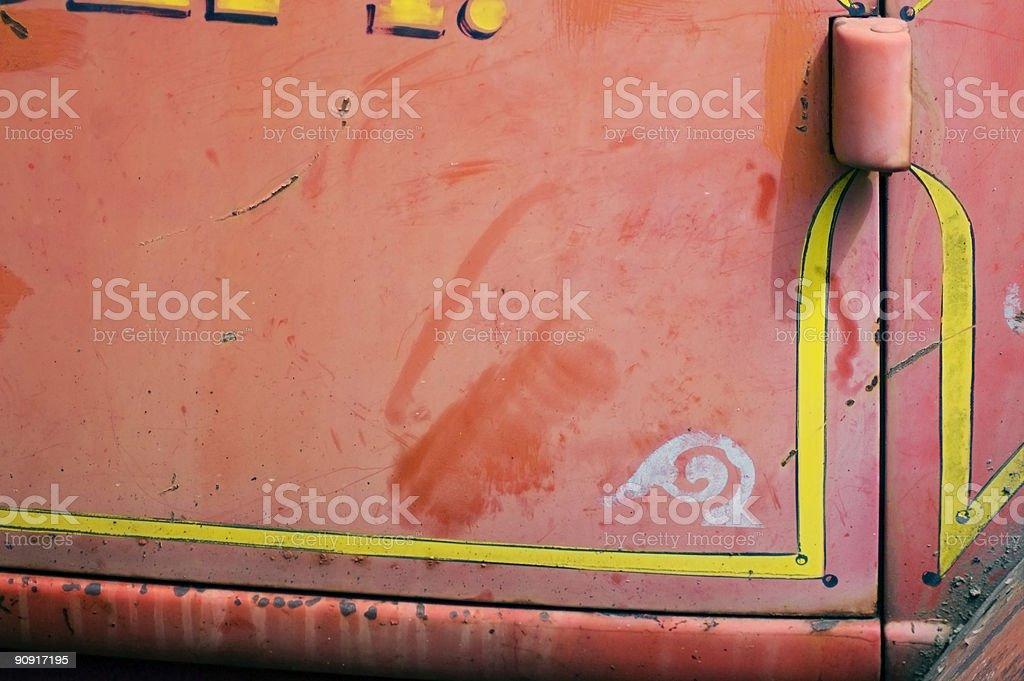 Antique Fire Engine Door Horizontal royalty-free stock photo