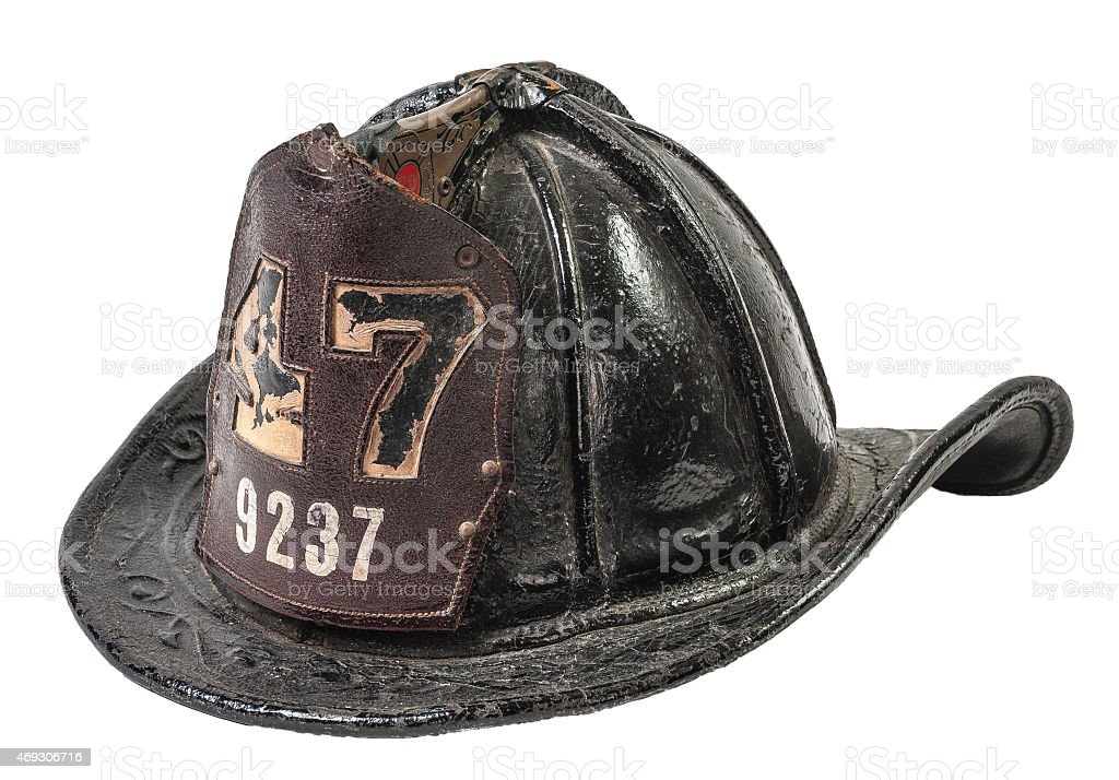 Antique Firefighter's Helmet stock photo