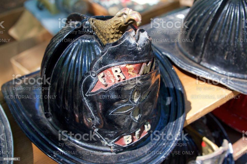 Antique firefighter's hemet stock photo