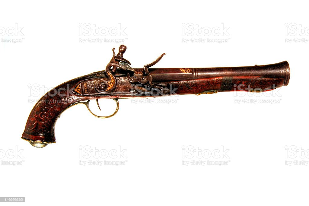 Antique Flintlock Pistol royalty-free stock photo