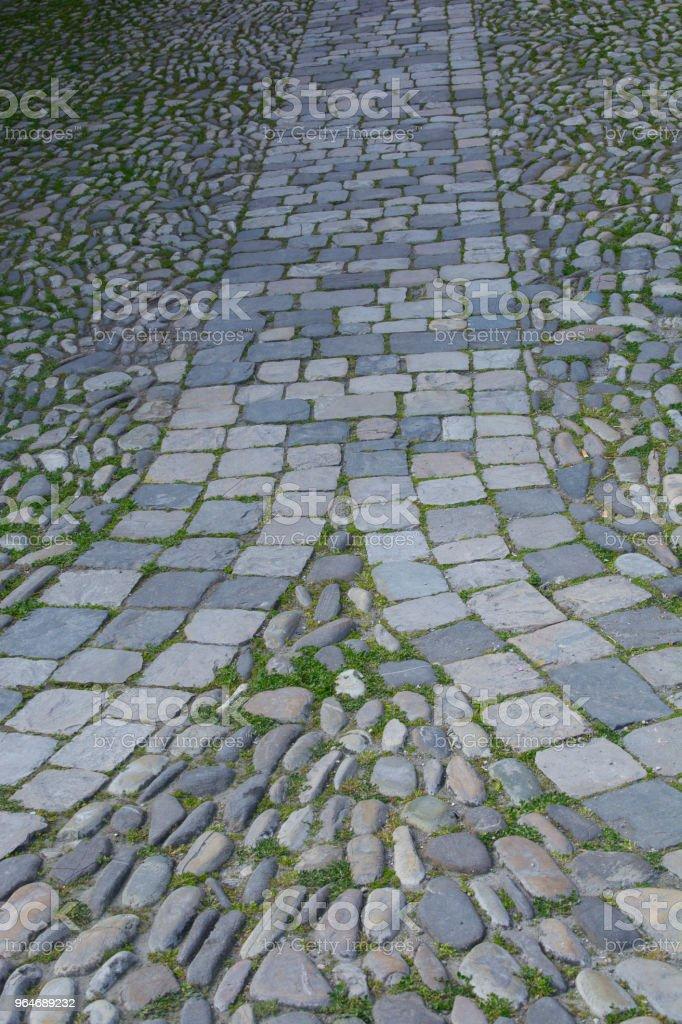 Antique floor with sanpietrini5 royalty-free stock photo