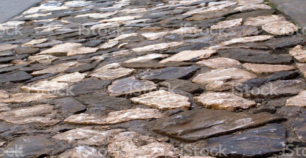Antique floor with sanpietrini6 royalty-free stock photo