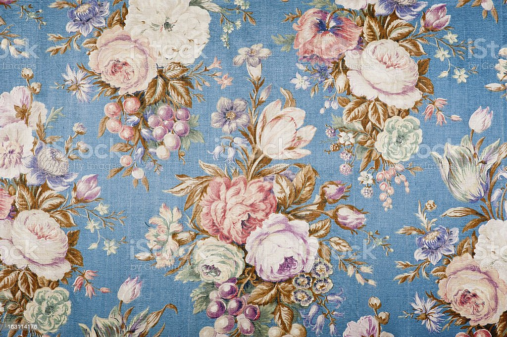 Antique floral fabric 88552135 stock photo