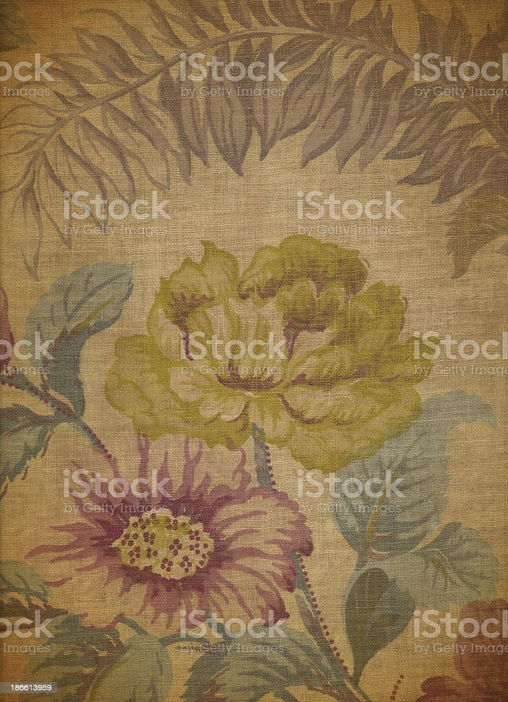 Antique Floral Fabric #5 royalty-free stock photo