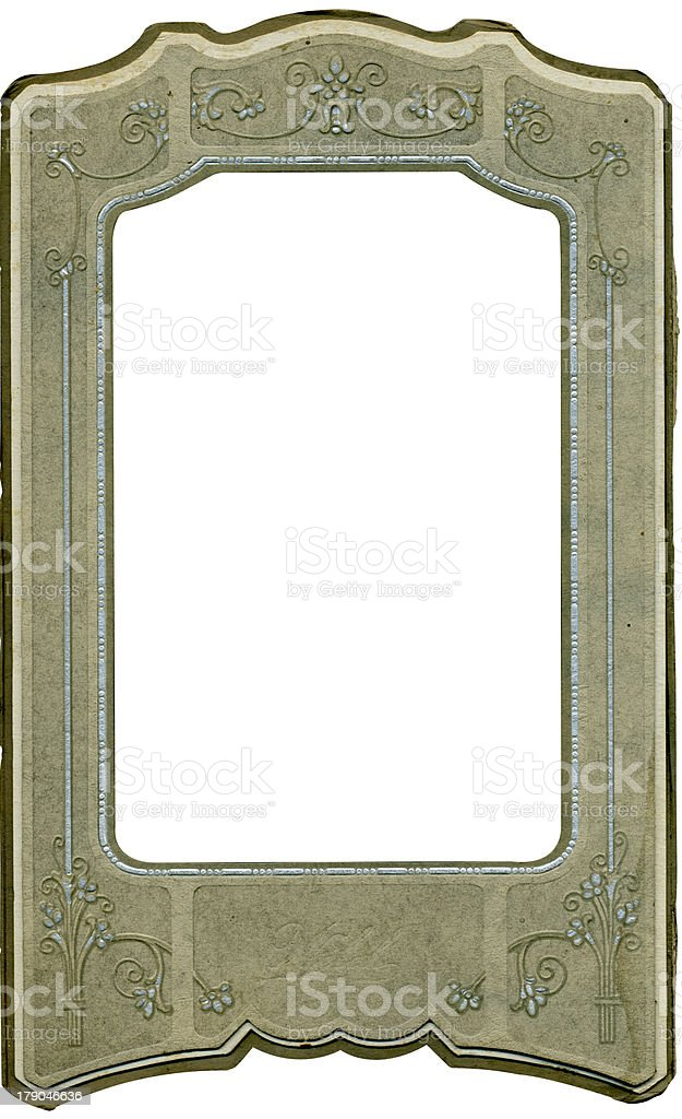 Antique floral scroll frame royalty-free stock photo
