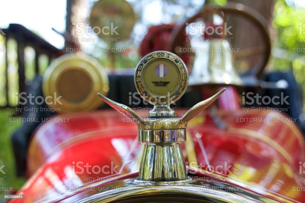 Antique Ford Model T fire engine stock photo
