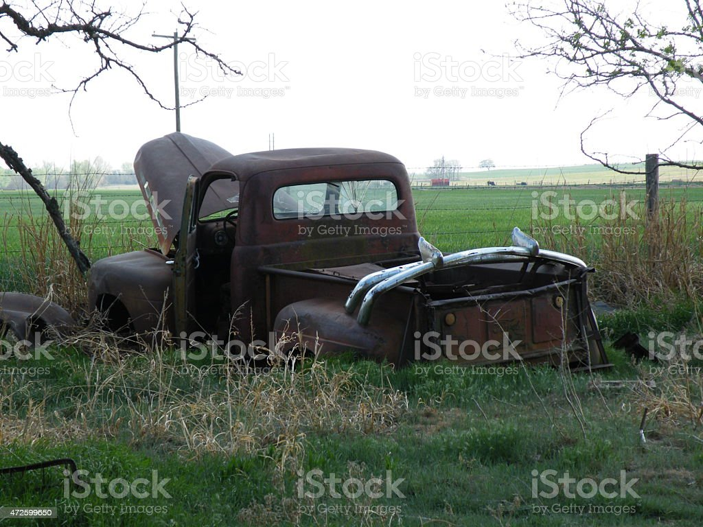 Antique Ford Pickup stock photo