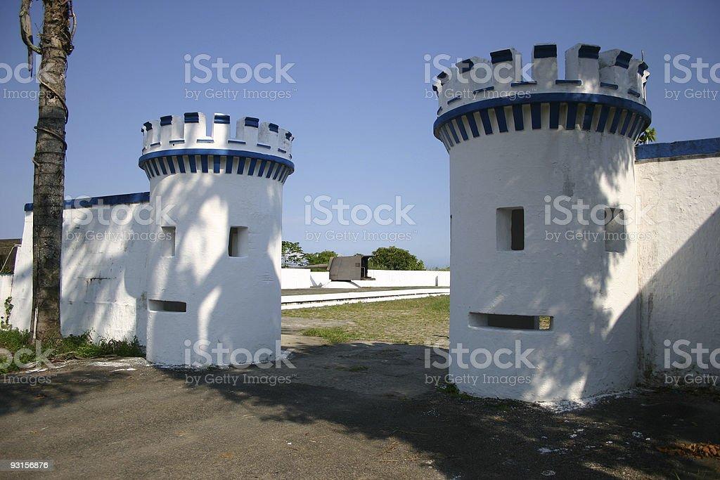 Antique fort entrance stock photo