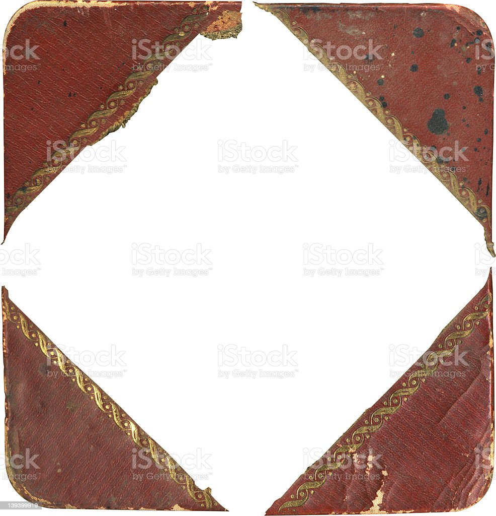 antique four corners (all different) royalty-free stock photo