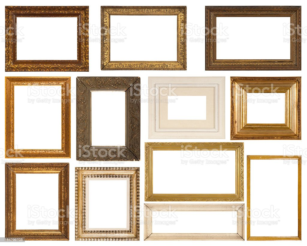 Antique Frame Collection royalty-free stock photo