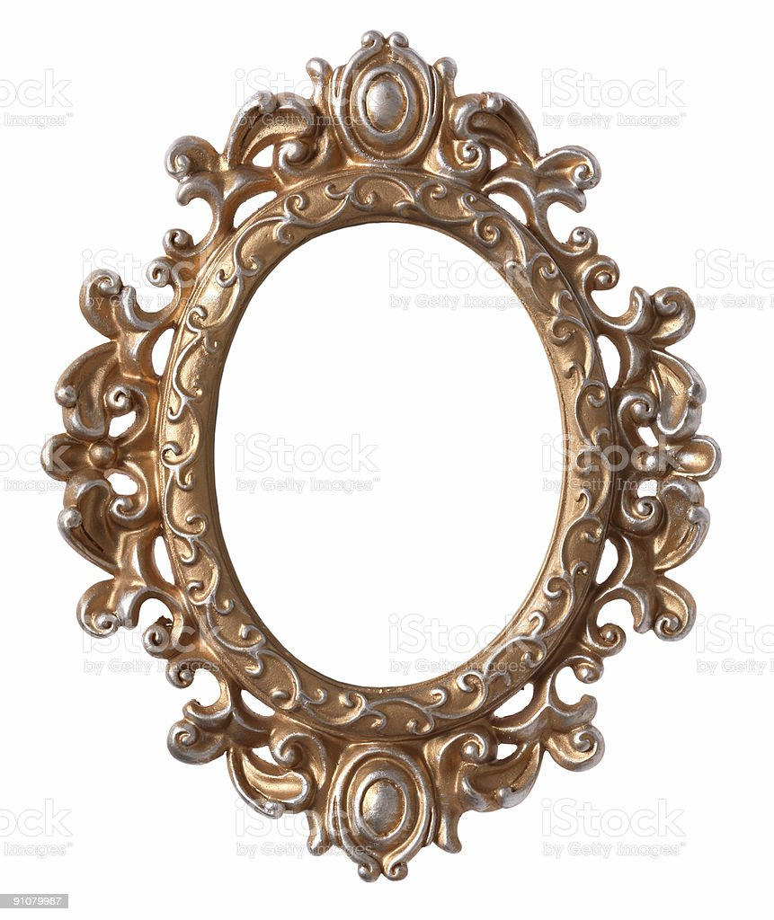 Antique Frame (isolated) royalty-free stock photo