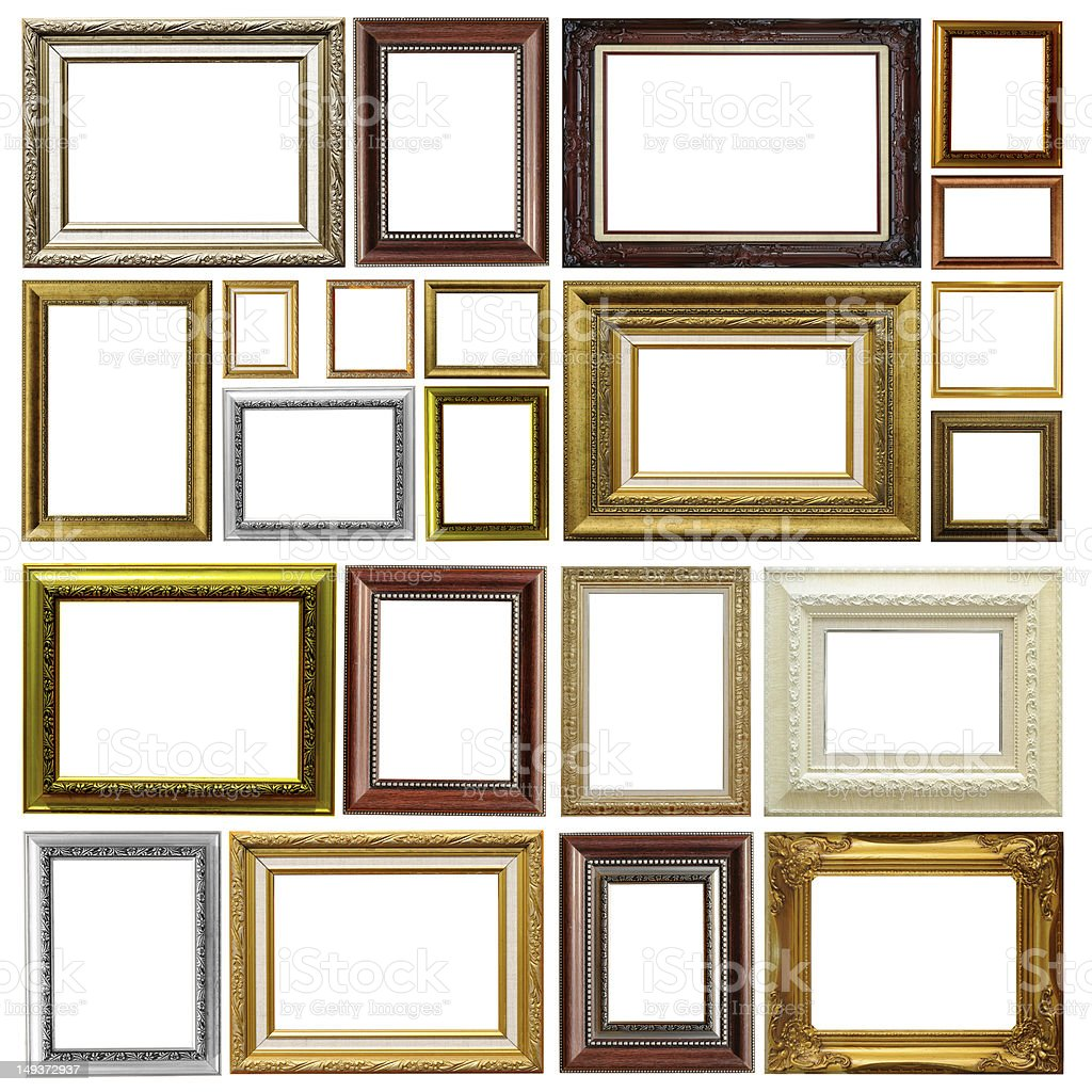 Antique frames with different sizes and colors stock photo istock antique frames with different sizes and colors royalty free stock photo jeuxipadfo Choice Image
