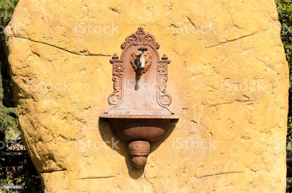 Antique French Ornate Wall Fountain Lavabo Or Planter With Scrolling