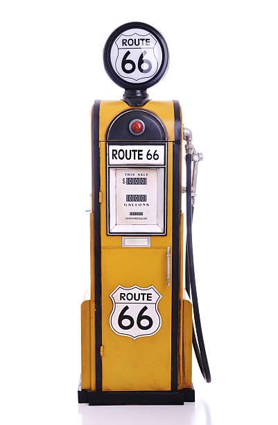 Antique fuel pump stock photo
