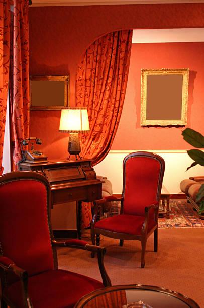 Antique Furnishings In Hotel Interior stock photo