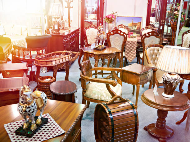 antique furniture store - antique stock pictures, royalty-free photos & images