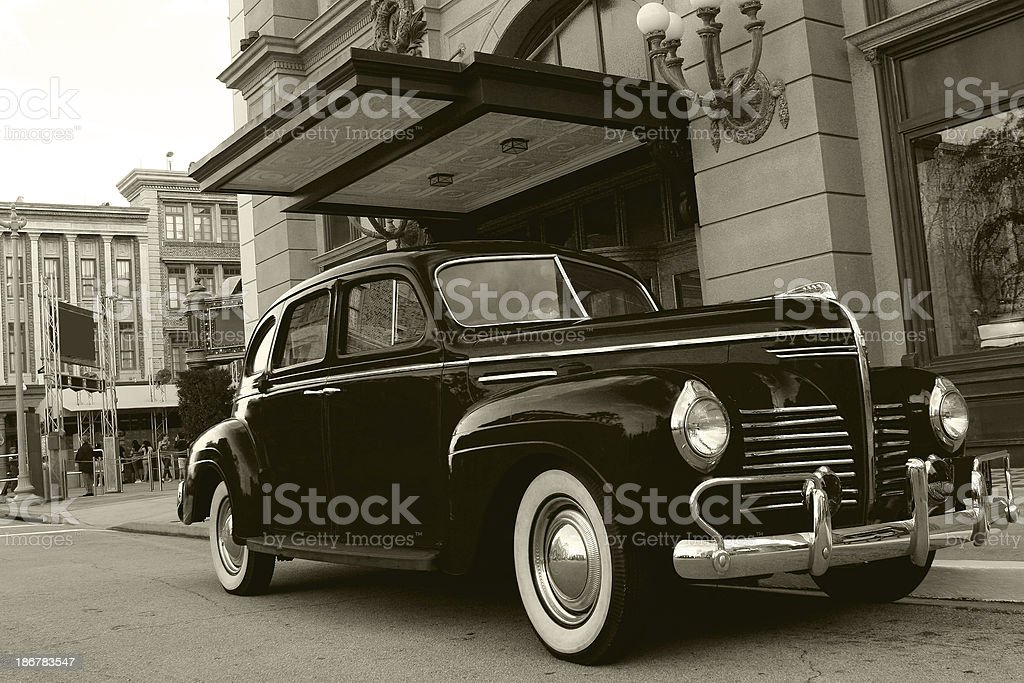 Antique Gangster Car stock photo