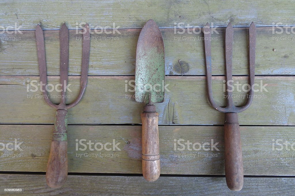 Antique Gardening Tools Royalty Free Stock Photo