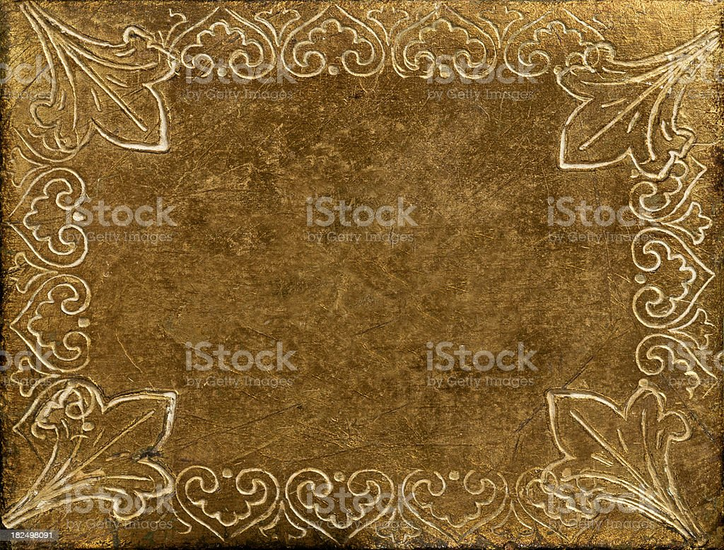 Antique Gilded Embossed Wood royalty-free stock photo