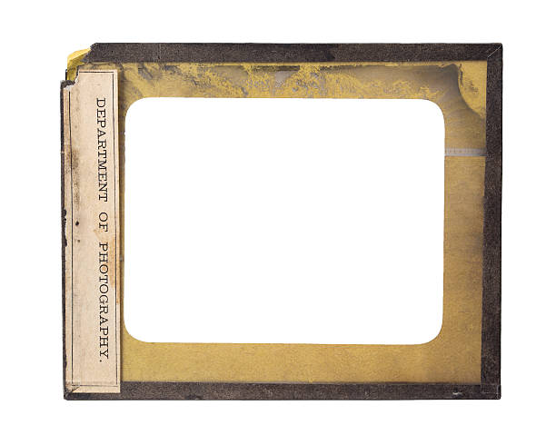 Antique Glass Plate Negative Metal Frame A antique glass plate negative with metal frame and label