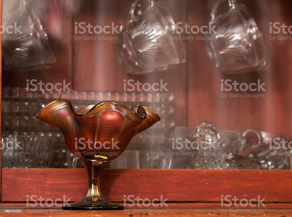 Antigo de vidro foto royalty-free