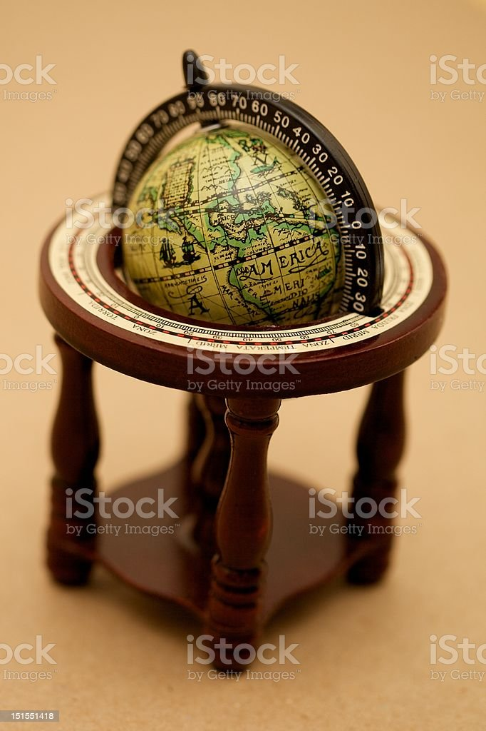 Antique Globe royalty-free stock photo