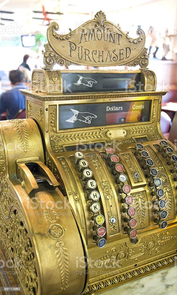 Antique Gold Cash Register - Royalty-free Antika Stok görsel