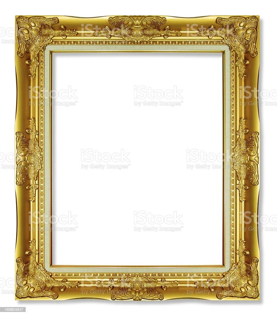photo de cadre or antique sur fond blanc image libre de droit istock. Black Bedroom Furniture Sets. Home Design Ideas