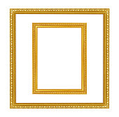 istock antique gold frame on the white background 482521075