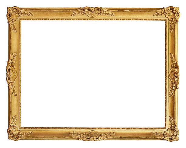 alte gold rahmen - barock stock-fotos und bilder