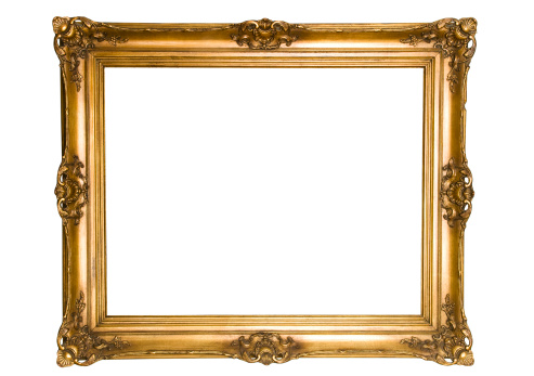 Antique Gold Frame Isolated on white