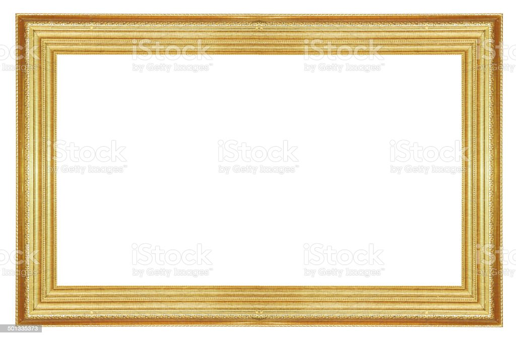 Antique Gold  Frame stock photo