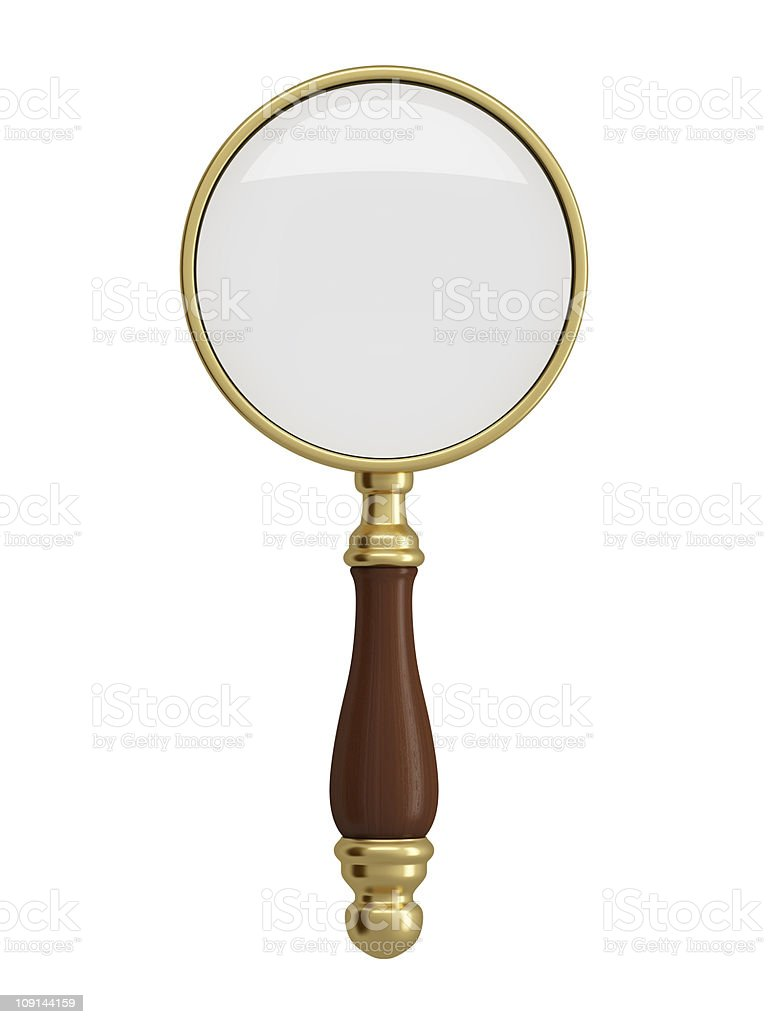 Antique gold magnifier royalty-free stock photo