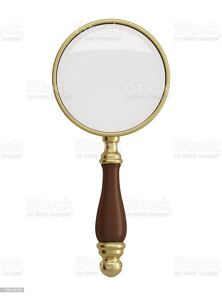 Antique gold magnifier stock photo