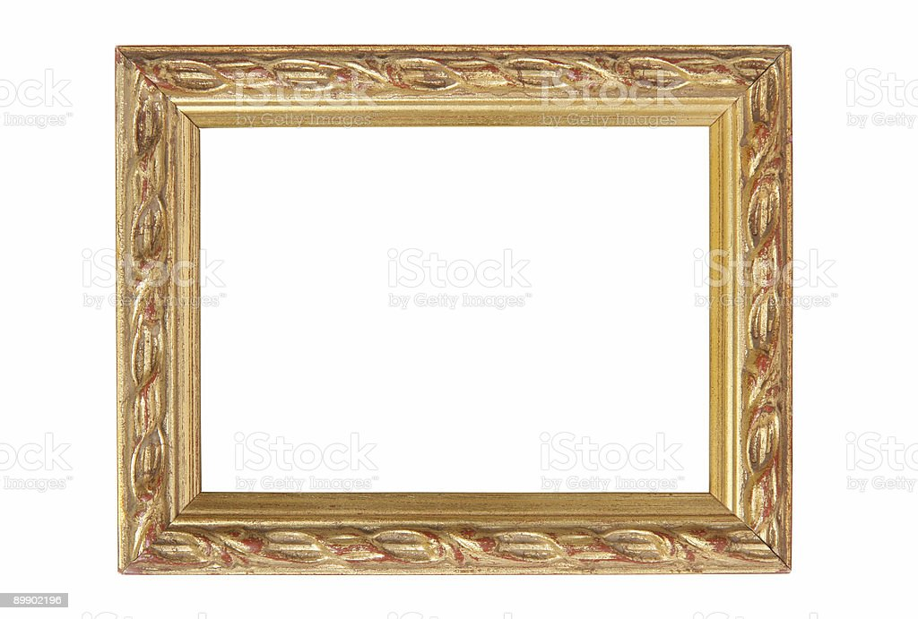 Antique Gold on Red Frame royalty-free stock photo