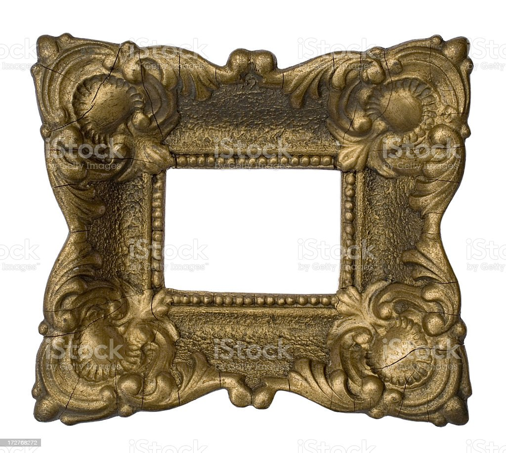 Antique Gold Picture Frame royalty-free stock photo