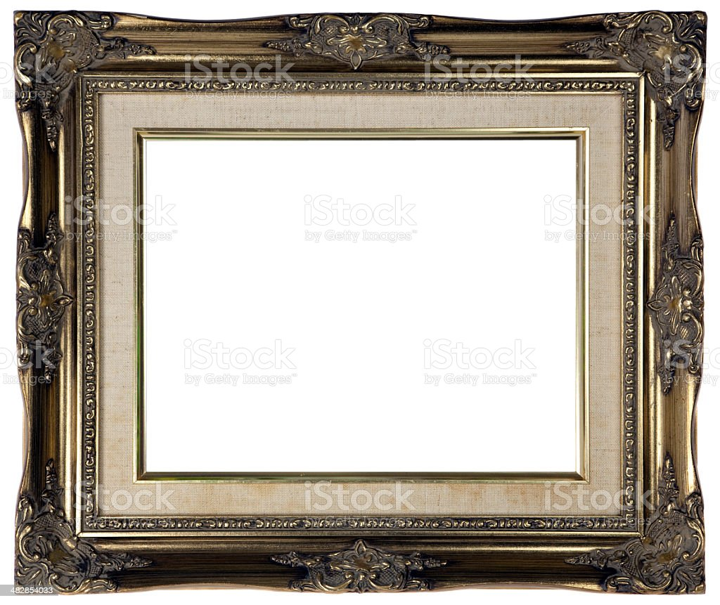 Antique Gold Picture Frame - XXL royalty-free stock photo