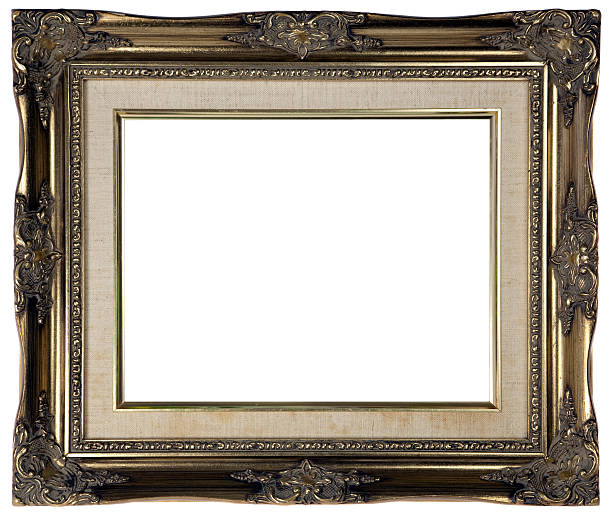 Antique Gold Picture Frame - XXL stock photo