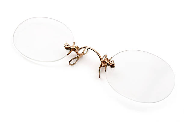 Or Antique Pince-Nez des lunettes - Photo