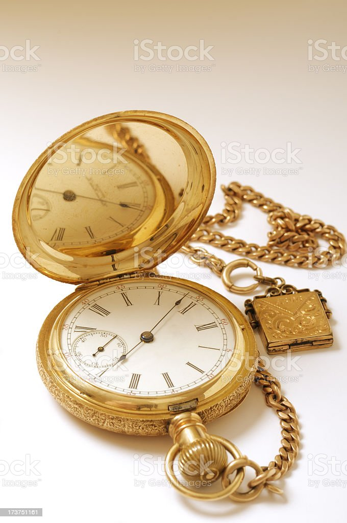 Antique Gold Watch royalty-free stock photo