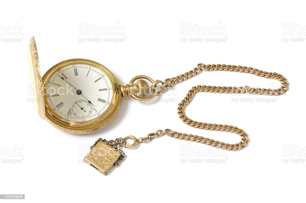 Antique Gold Watch stock photo