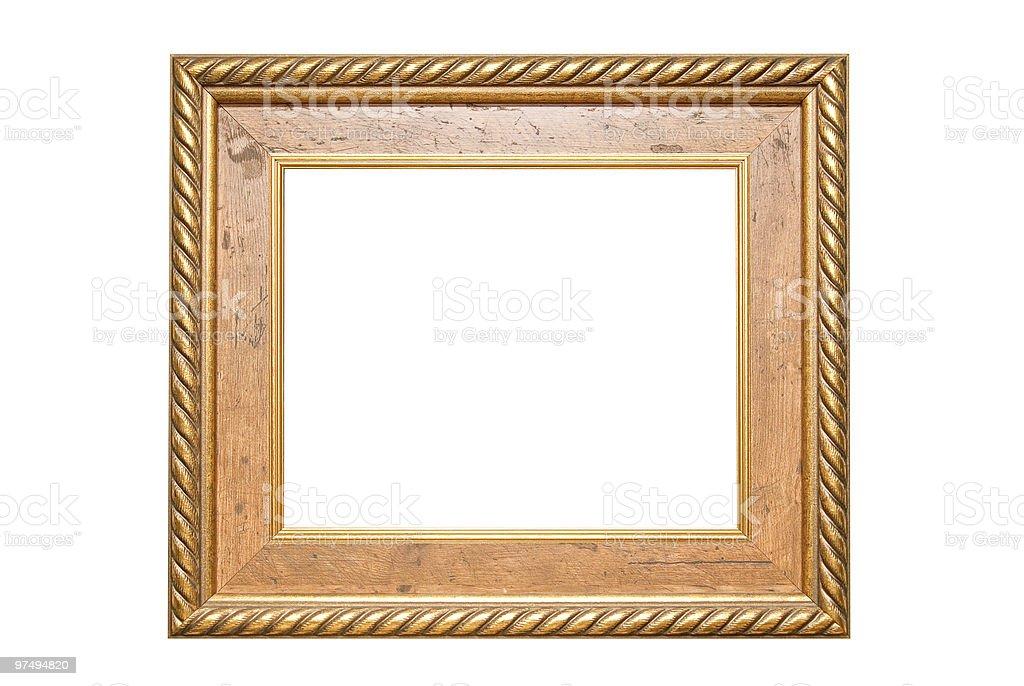 antique golden frame royalty-free stock photo