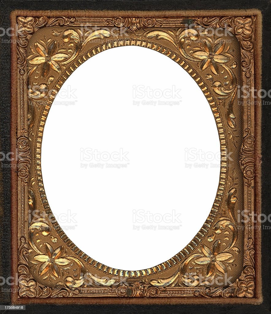 antique golden photo frame royalty-free stock photo
