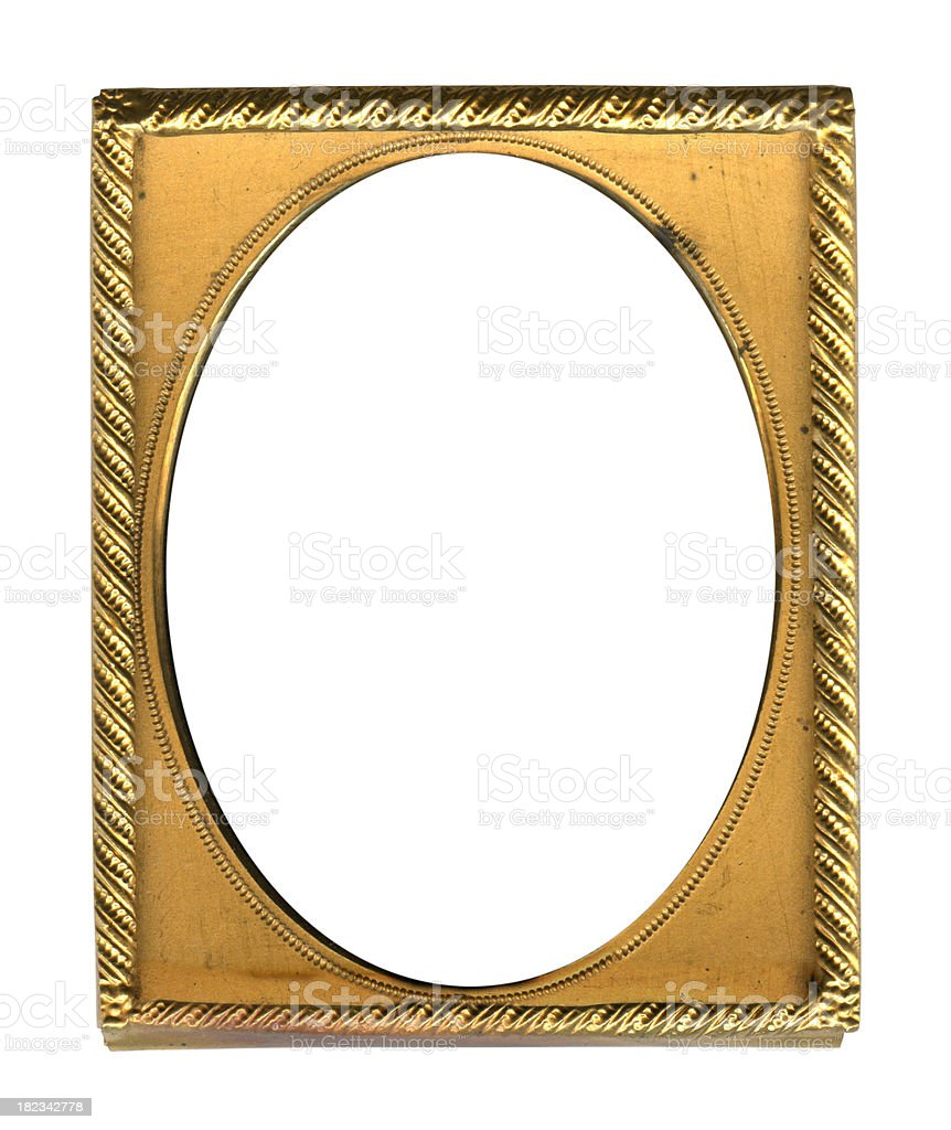 Antique Golden Picture Frame Stock Photo & More Pictures of Antique ...