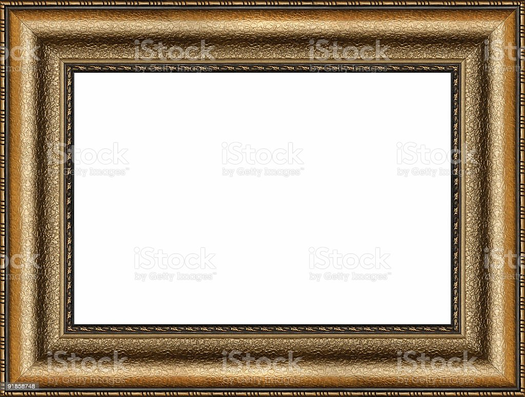 Antique golden picture frame royalty-free stock photo