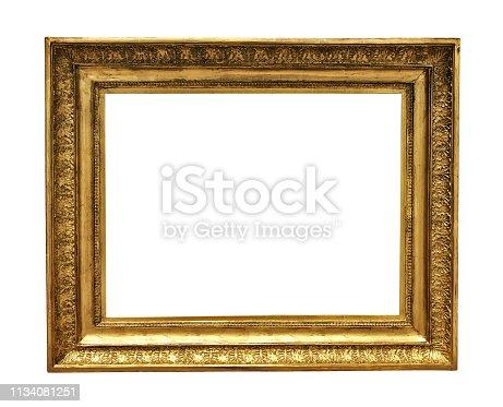 914465180 istock photo antique golden textured masterpiece frame 1134081251