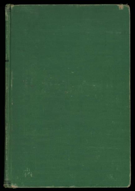 Antique Green Hardcover Book stock photo