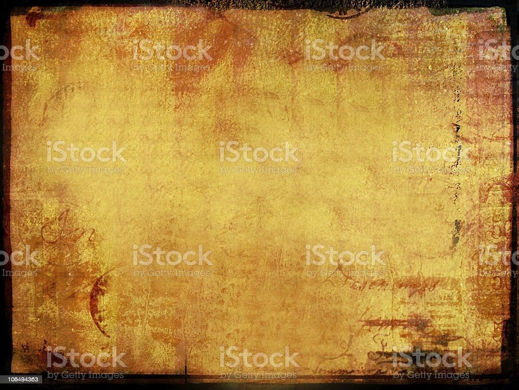 antique grunge letter background with burnt texture stock photo