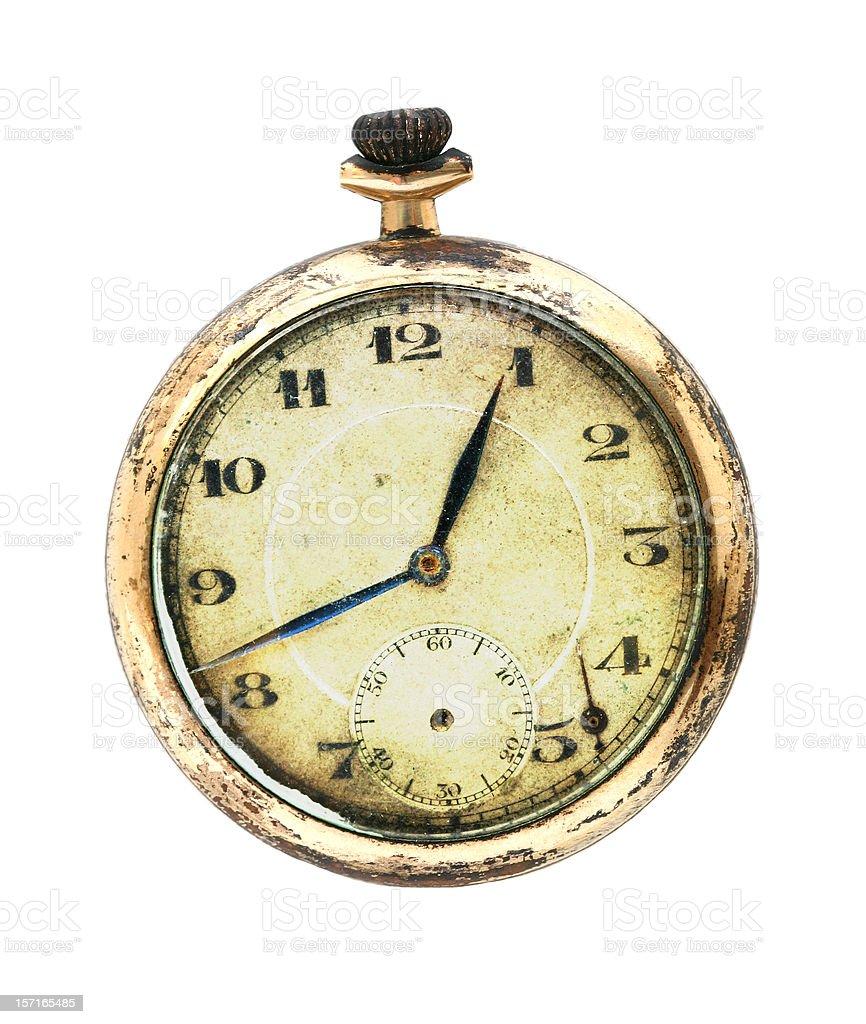 Antique Grunge Pocket Watch stock photo