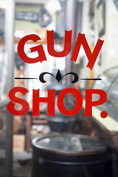 Antique Gun Shop  gun shop stock pictures, royalty-free photos & images